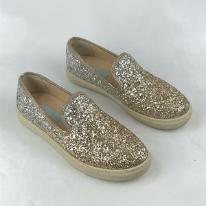 Betsy Johnson glittery sneakers
